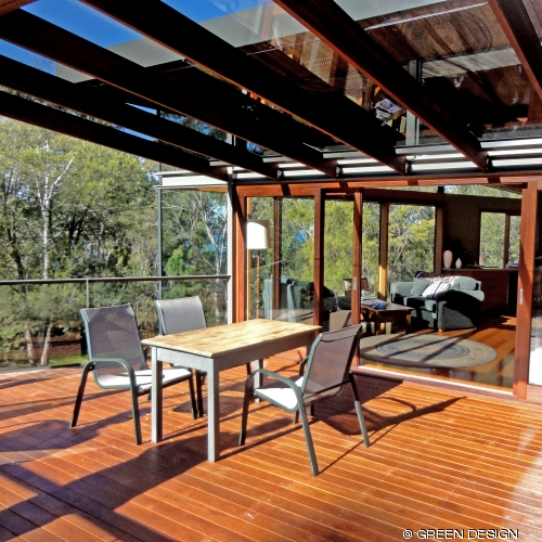 image of deck extension, silvertop ash